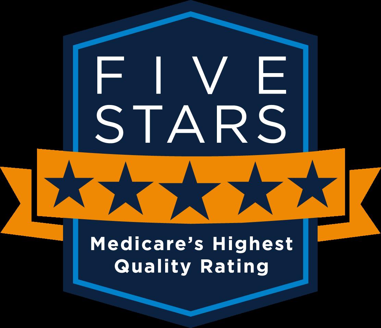 Medicare - Five Stars Shield Logo - Medicare's Highest Rating