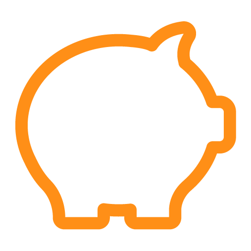 Sunsure Insurance Solutions - Piggy Bank Icon - Orange