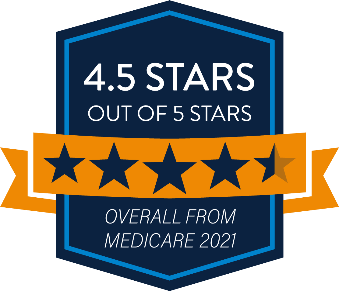 4.5 Stars - HMO Medicare Quality Rating