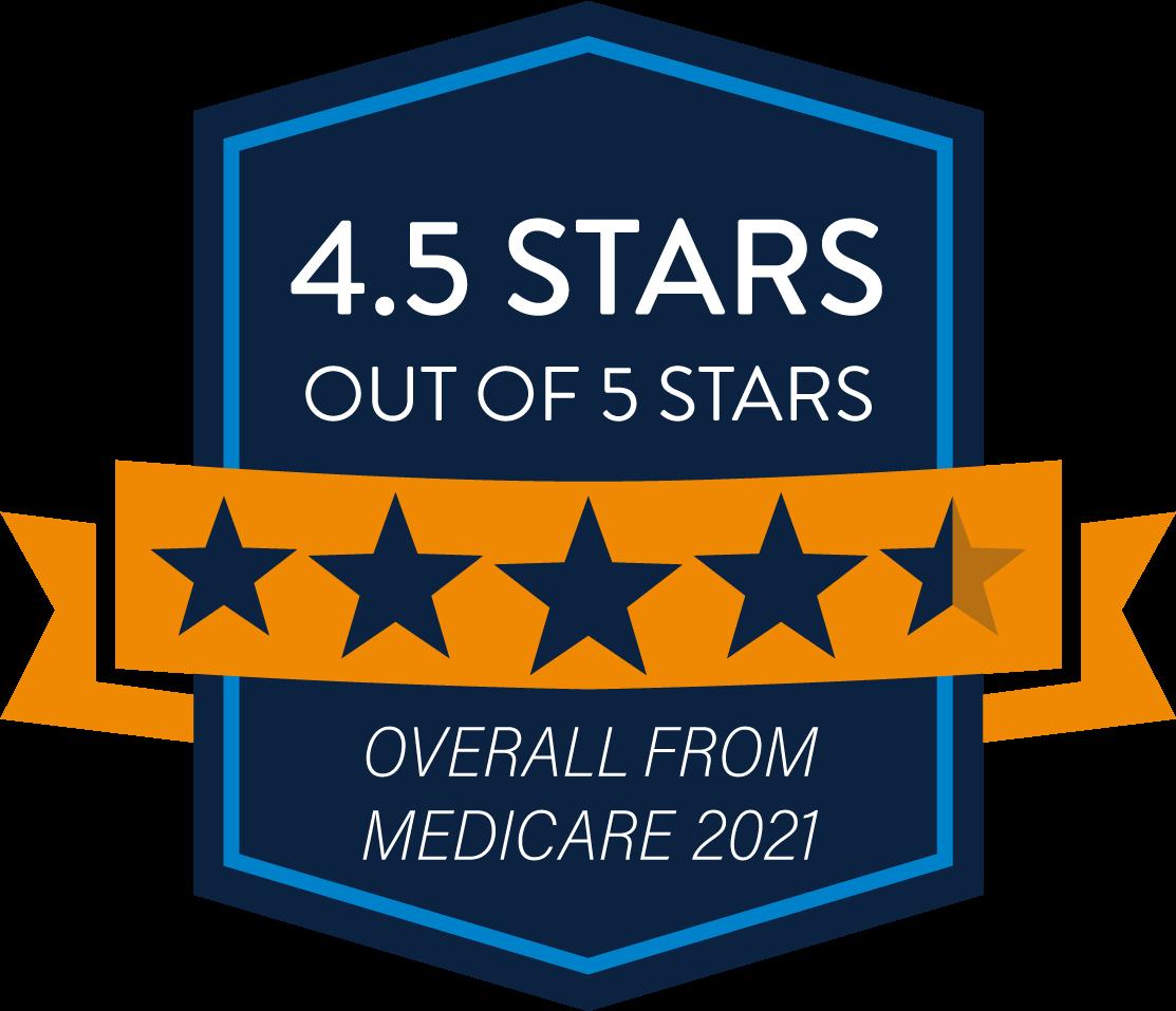 4.5 Stars - HMO Medicare Quality Rating